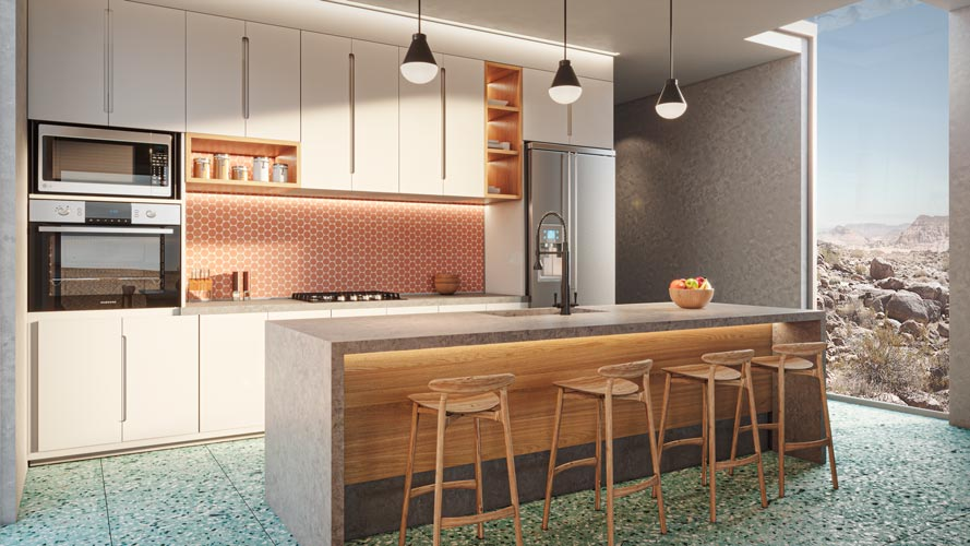 El Cemento kitchen
